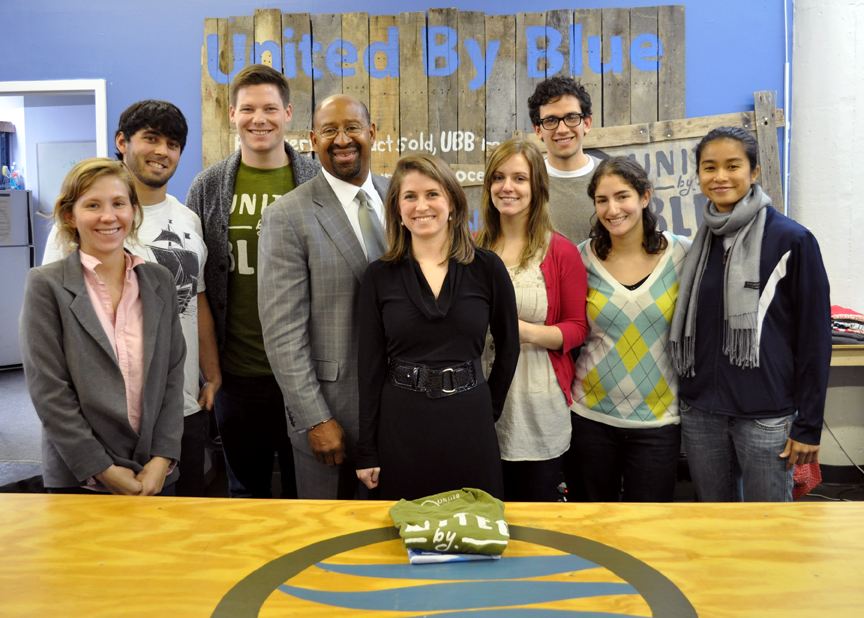 mayor nutter visits united by blue