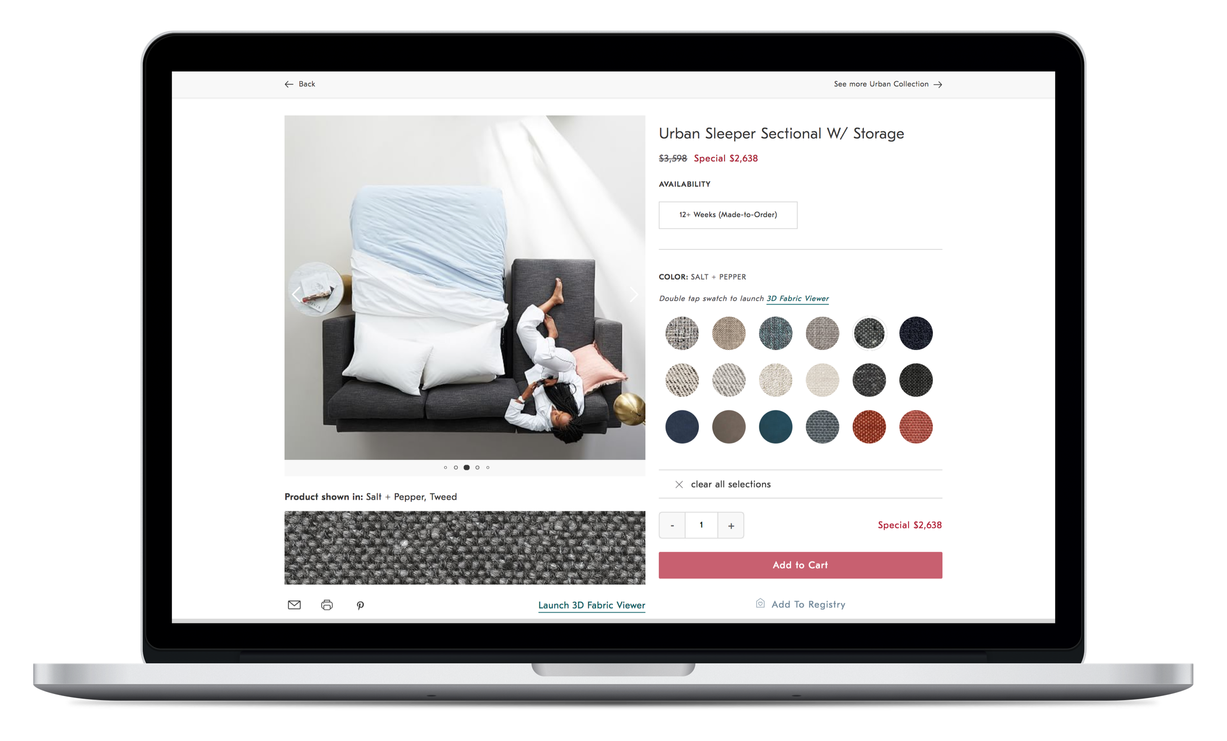 Product Detail Page redesign for West Elm